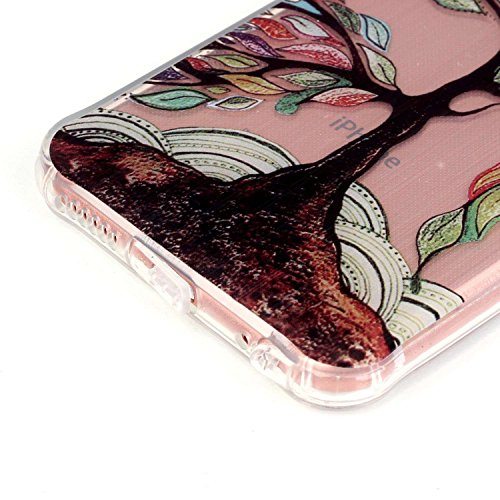 Voguecase® Pour Apple iPhone 5 5G 5S, TPU Silicone Shell Housse Coque Étui Case Cover (l'orange vélo)+ Gratuit stylet l'écran aléatoire universelle LS-Un grand arbre coloré