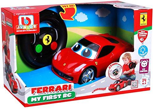 ferngesteuertes auto fuer 2 jaehrige BB Junior My First RC: Ferngesteuertes Auto Ferrari 458 Italia ab 24 Monaten, mit Licht & Sound, inkl. Fernbedienung mit Bewegungssensor, rot (16-91003)