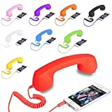 #3: J N Retail Radiation Free Phone 3.5mm Jack Wired Retro Handset Receiver Compatible for All Smart Phones, Laptop, PC, iPad, etc (Colour May Vary)
