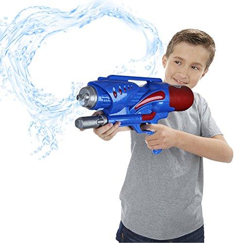 Preisvergleich Produktbild Double Nozzles Water Gun Pistol - Beby (2017 New Design) 1200ml Squirt Gun for Kids Summer Outdoor Water Shooting Game 3+Years Toys (Red-Yellow / Blue-Red Random)