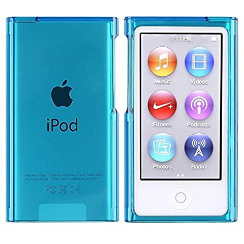 Slim Housse Coque Etui Snap-in Protection Case Pour APPLE iPod 7 gen Nano, Bleu Transparent