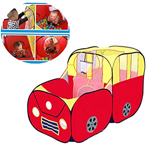 Sports Car tenda del gioco, Red pieghevole Playhouse Toy Car Tenda House di YIGER, bambini Ocean palle Pit Pool