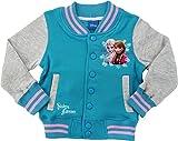 DISNEY Frozen Eiskönigin Anna Elsa Mädchen Girls Baseballjacke Collegejacke Jacke blau (98/104)