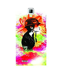 PrintVisa Stylish Cool Girl Army 3D Hard Polycarbonate Designer Back Case Cover for Micromax Canvas Xpress A99