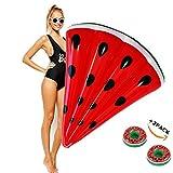 wanxing Riesiges aufblasbares Wassermelone Schwimmtier,Pool Wassermelone Luftmatratze für Erwachsene und Kinder (120*100cm)