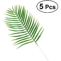 VORCOOL 5 Stücke Hohe Simulation Künstliche Pflanze Blatt für Home Hochzeit Wanddekorationen (Dypsis Lutescens)