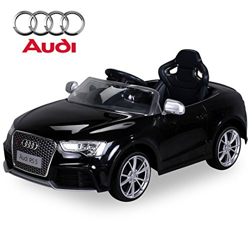 Kinder Elektroauto Lizenzierter Audi RS5 Lizenziert 2 x 35 Watt Motor Original Elektro Kinderauto Kinderfahrzeug (schwarz) thumbnail