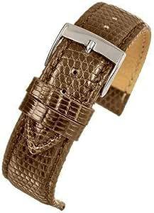 Genuine Italian lucertola orologio da polso, marrone scuro 14mm a 20mm