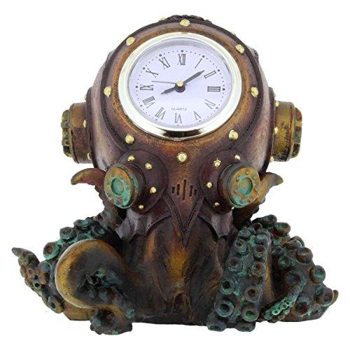 Dark Dreams Gothic Steampunk Clocktopus Figur Octopus Krake Uhr Dekoration Standuhr Ambiente Unterwasserwelt (Eine Kostüm Standuhr)