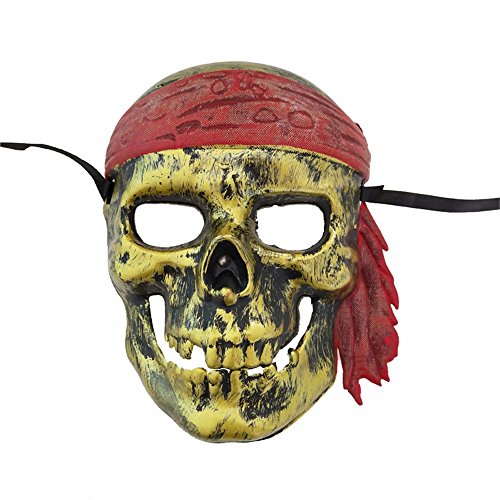 Maskerade, Skelett Maske Piratenmaske Halloween Party witzige Requisiten antik Gold Masquerade