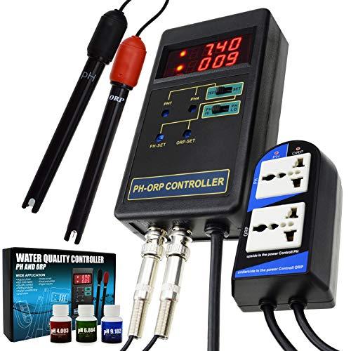 2 En 1 Controlador Digital De PH Y ORP Redox Con Relés Separados Electrodo Reemplazable BNC Probe Type Probador De Calidad Del Agua