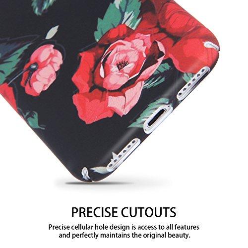 iPhone 7 Hülle,iPhone 8 Hülle,Imikoko® iPhone 7/8 Elegant Protective Schützend Stoßfest Case Back Cover Blumenmuster Hart PC Hülle Retro Floral Series Mode Design Anti Staub Kratzer Handyhülle für iPh Farbe 5