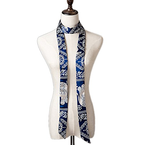 Damen Schmaler Schal lange dünne kleines Schal, in Frühling & Sommer, Tasche Dekoration tirnband Handschlaufe (Schal Skinny Silk)