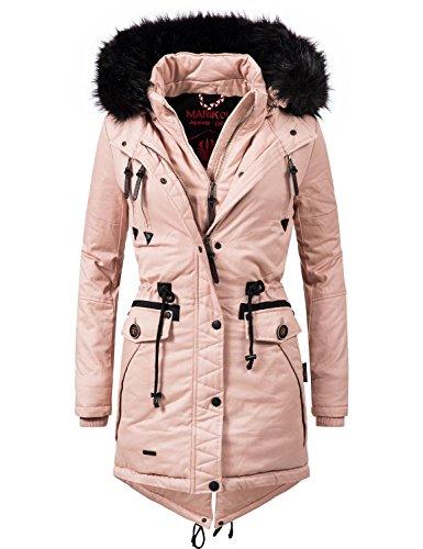 Marikoo Damen Mantel Wintermantel Winterparka Rose (vegan hergestellt) Rosa Gr. M