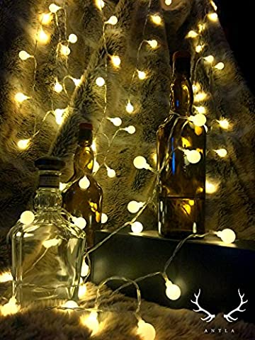 100 LED STRING LIGHT WITH REMOTE & TIMER - Ambiance Lighting - Fairy lights - Great for Outdoor Use in Garden, Patio, Pathway, Or Indoor use in the Bedroom, Lounge - Suitable for a Party, Wedding, Home Decor - 10 Meters/33ft - UK Plug - (Warm