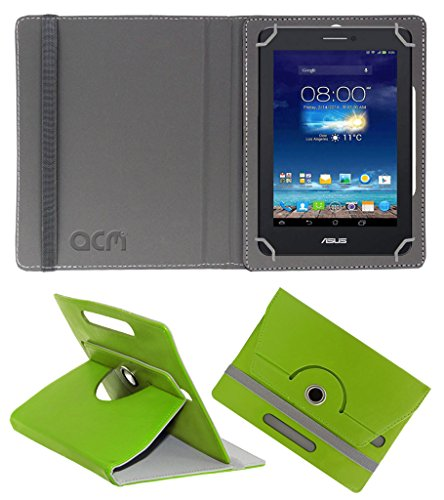 Acm Rotating 360° Leather Flip Case for Asus Fonepad 7 Me175cg Dual Sim Cover Stand Green  available at amazon for Rs.149