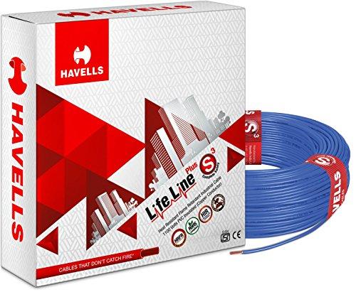 Havells Life Line Plus S3 1.5 sq mm PVC HRFR Cable (Blue)