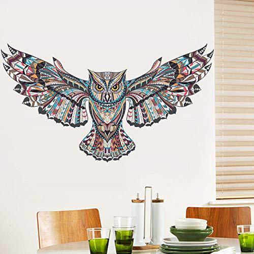Adesivi murali colorati gufo per bambini camere decorazioni stickers murali animali cartoon pvc uccelli che volano autoadesivo murale art