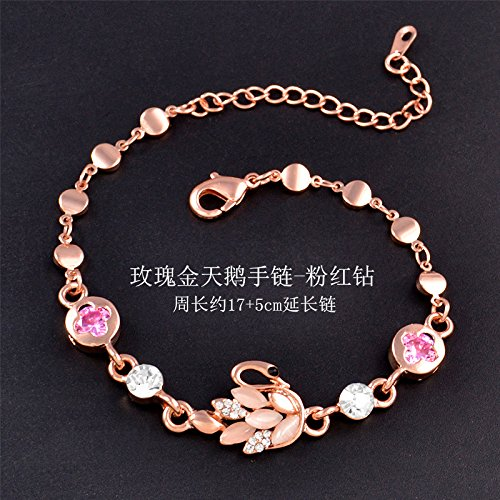 hoom-lady-crystal-moda-bracciale-bracciale-opale-swan-rose-gold-bracelet-diamanti-rosa