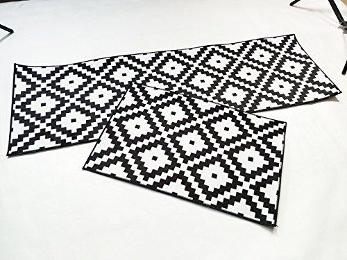 XVBABY Küche Bodenmatte Teppich, Durchgang Teppich Tür Matte, Wohnzimmer Schlafzimmer Teppich Tür Matte, Bad rutschfeste Badematte Saugfähige Bodenmatte Magic Square 60X90Cm Schwarz Und Weiß