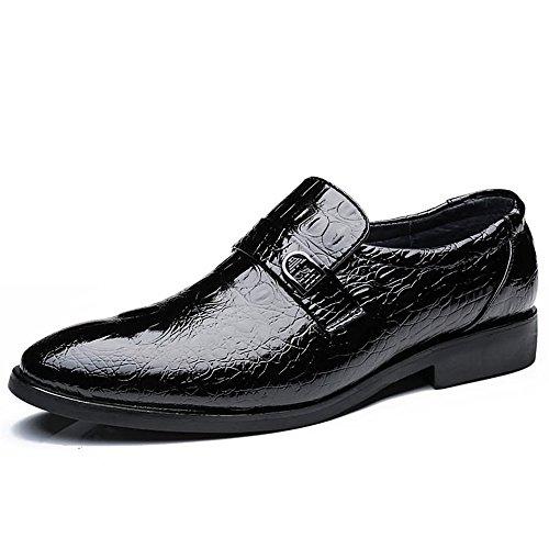 Oxford Schuhe Herren Business Oxford Casual Style Luxus Krokodil Echtes Leder Klassische Mode Formale Schuhe Kleid Schuhe Für Männer (Color : Schwarz, Größe : 38 EU) -