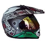 #1: Aaron Smart Bluetooth helmet Matt Black With Green