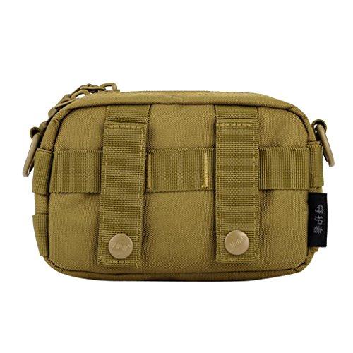 Gazechimp Outdoor Molle Tasche Multifunktionell Beutel Taktische Freizeittasche mit Schultergurt Braun