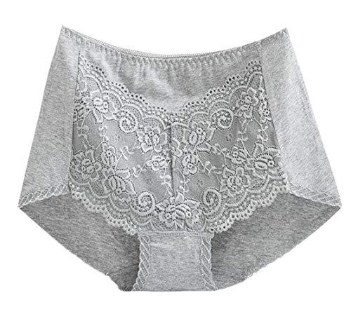 TTYLLMAO Women's Lace Panties High-Rise Underwear Briefs Floral Lace Boy Shorts
