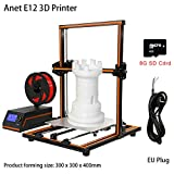 Favourall Anet 3D Imprimante, Buse 0.4mm LCD Extruder Filament Nozzle Large Printing Size 300 * 300 * 400mm DIY Model Tube Printer Kit,Juane