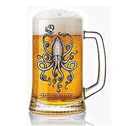 Jarra de Cerveza vidrio 50 cl. estilo vintage Modelo Kraken