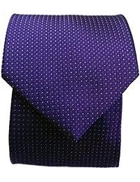 Blacksmith Slim Purple Polka Dot Formal Tie for Men - Purple Jacquard Necktie for Men - Purple Formal Ties for Men