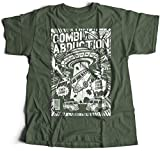 A002-220mg Combi Abduction Herren T-Shirt Alien UFO Save Your Combi They Come Comics Space Geek Classic(Large,Militarygreen)
