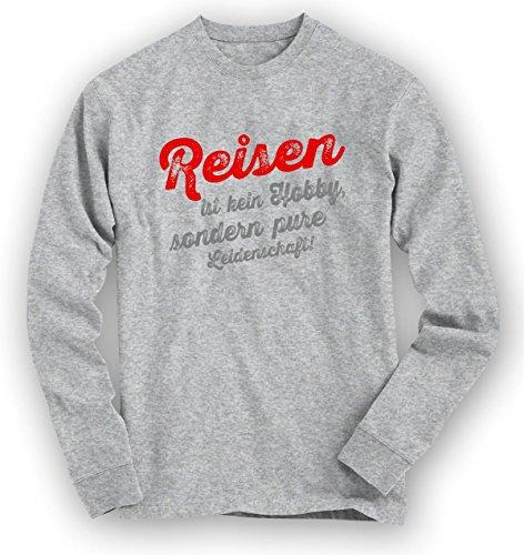 Reisen Sweatshirt | Reise-Pullover | Traumreise | Urlaub | Unisex | Sweatshirts Graumeliert