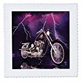 3D Rose qs_8332_10 3dRose Quilt Square Picturing Harley-Davidson174 Motorcycle