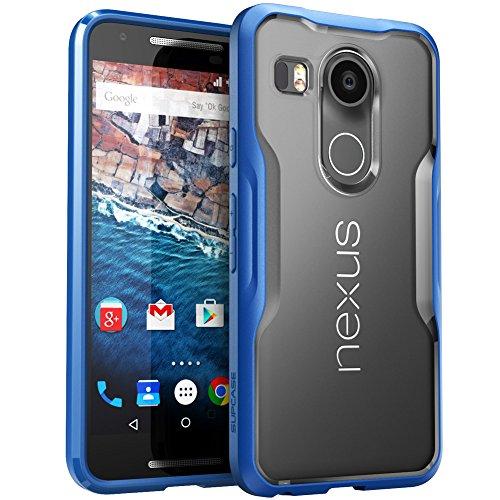 SupCase Google Nexus 5X Hülle (2015 Release), [Unicorn Beetle Serie] Premium-Hybrid Protective Schutzhülle/Case/Zubehör (Frost/Blau)