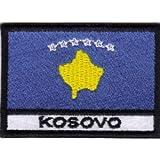 Patch Flagge Kosovo cm 7x 5Aufnäher Stickerei Kosovo-027
