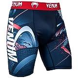 Venum Rooster Short de Compression Homme, Bleu Marine/Rouge, FR : 2XL (Taille Fabricant : XXL)