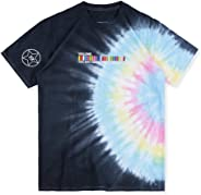 TRAVIS SCOTT ASTROWORLD Tie Dyeing Letter Cactus Print Casual T-Shirt for Men/Women