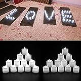 Eyoo 24 x candele a LED senza fiamma con candele di tè ti danno il modo innovativo per illuminare la casa Non preoccuparti di fumo, odore, calore e cera! Sicuro da usare! Illuminare una mensola del camino o un soppalco con un mazzo di candele...