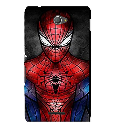 printtech Superhero Avengers Back Case Cover for Sony Xperia E4 Dual::Sony Xperia E4