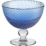 Eiscremeglas, Eisbecher, Eisschale ~BUBBLES~ blau, 11 cm, Glas (GELATO VERO powered by CRISTALICA)