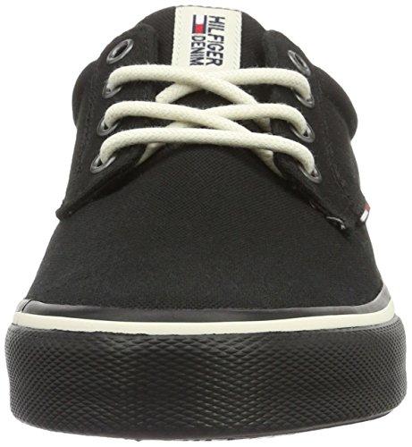 Tommy Hilfiger V2385ic 1d, Sneakers Basses Homme Noir (Black 990)