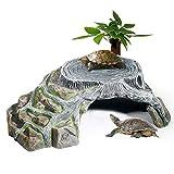 OMEM Schutz für Tortoise Terrarium Terrestrial Cave Reptiles Rampen Platform...