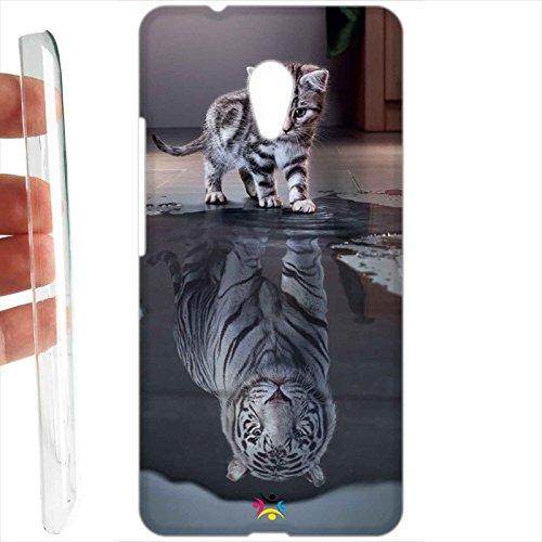 Custodia cover RIGIDA per Meizu M5s - 1122 gatto tigre