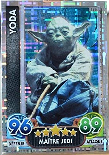 carte TOPPS STAR WARS 198/224 Yoda Holographique Force Attax NEUF FR