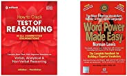How to Crack Test Of Reasoning- REVISED EDITION+Word Power Made Easy(Set of 2 books)