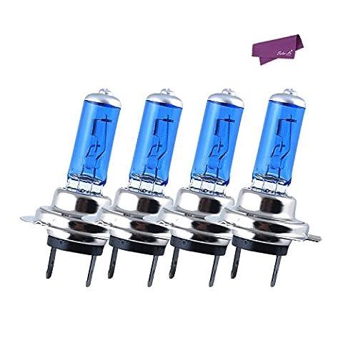 SalesLa 4 X H7 Xenon Super White 100w Bulbs Dipped Beam 12v Headlight Headlamp Hid Halogen Light