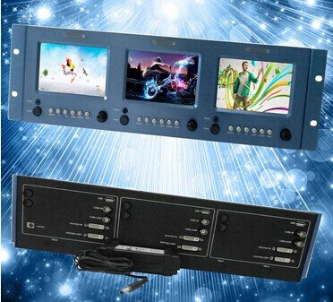Gowe Video Titel Bearbeiten LCD Compact Rack Mount Monitor CE, FCC. ROHS Roh Lcd-monitore