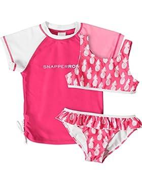 Snapper Rock Mädchen UV Bikini Set Badeanzug und Shirt Hot Pineapples