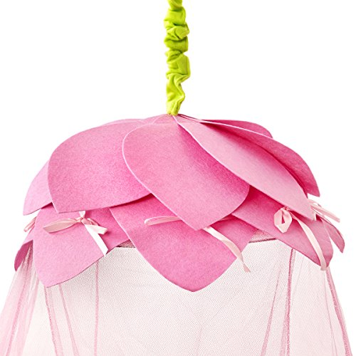 Princesa cama con dosel dosel–Cuento Infantil Rosa Petals- rápida y fácil para colgar las niñas dormitorio accesorios–regalo perfecto para las niñas, hijas y Granddaughters